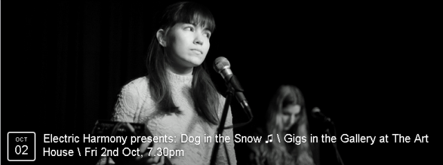 Dog In The Snow comprises two wonderful and creative women, Helen Ganya Brown and Eva Bowan. They produce subtly disconcerting, electronic ballads with a tribal thump.