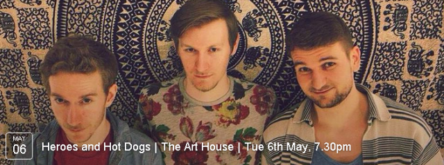 Join us for live music from Cardiff band 'We're no Heroes' and some gorgeous veggie chilli hot dogs at The Art House!