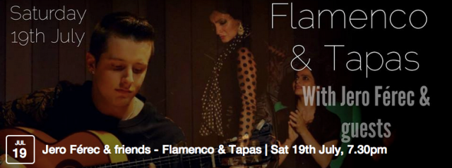 A celebration of breath-taking traditional Flamenco guitar, voice and dance in the intimate environment of our gallery space, with candles on the tables, the lights down and gorgeous food - we will cater for most of your senses this evening!