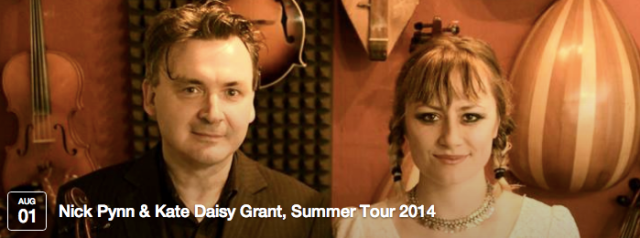 Multi award-winning musicians Nick Pynn & Kate Daisy Grant are taking their back-to-back original music shows around the UK. Both Nick and Kate garnered 5* reviews at the Edinburgh Fringe and won 'Best Music Act' at the Brighton Latest Fringe and Festival Awards 2013.   CLICK THE IMAGE FOR MORE INFO