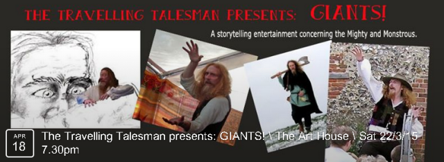 A storytelling entertainment concerning the Mighty and Monstrous.  BOOK NOW