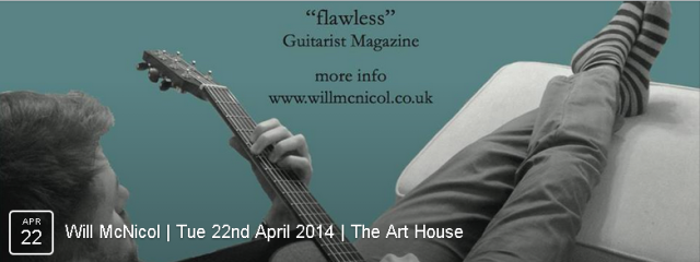 Will's playing has won him numerous awards, including Guitarist Magazine's coveted UK Acoustic Guitarist of the Year 2011, held at London's Southbank Centre. He has been tutored by world-class classical and acoustic guitarists including Gerald Garcia, Stuart Ryan and Thomas Leeb.