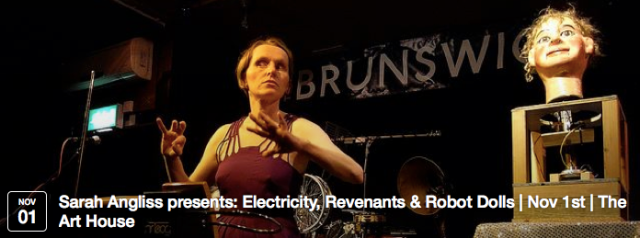 Tech savant and connoisseur of the uncanny Sarah Angliss channels the echoes of a victorian playroom via the birth of electricity into the stark atmosphere of the space race, to create an eerie and dreamlike performance.