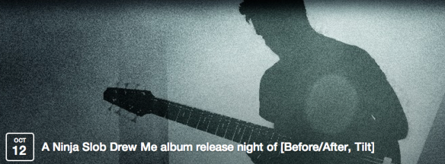 A Ninja Slob Drew Me is a Southampton based eight string bassist and music producer. This night marks the fourth album release. [Before/After, Tilt] is the first full length album since 'One Week in Sand' and is 11 tracks of solo eight string bass instrumentals and experimental concepts.