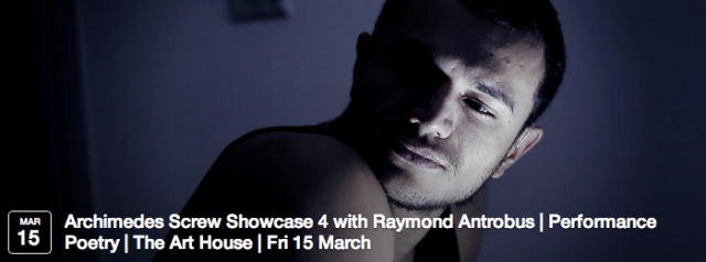 Raymond Antrobus - Winner of the Farrago International Slam 2008, author of Shapes and Disfigurements of Raymond Antrobus, and founder member of the Chill Pill Collective, tonight's headliner will be supported by Audience Choice poets David Dunn and James Barnes from January's showcase.