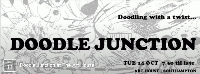 Dither digress drink dine and noodle your doodling or join us to do diddly squat and watch the unknown unfold! don't doodle? never doodled? occasionally or always doodle? everyone's welcome!   Suggested £4/5 donation, 7.30pm - CLICK HERE FOR DETAILS