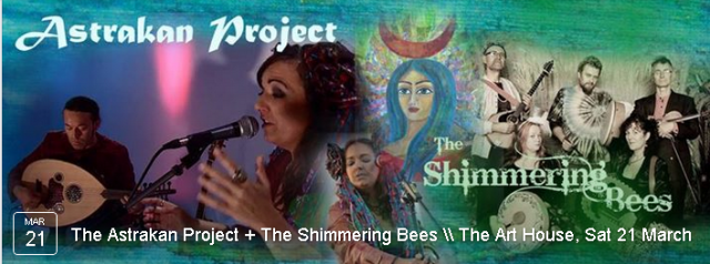 We are delighted to welcome Astrakan Project all the way from Istanbul with support from The Shimmering Bees for an evening of eclectic world music.  BOOK NOW